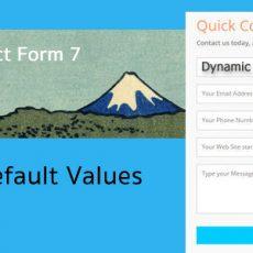 สร้าง Dynamic Text ใน Plugin Contact Form 7